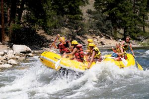 Paddling down the Salmon River