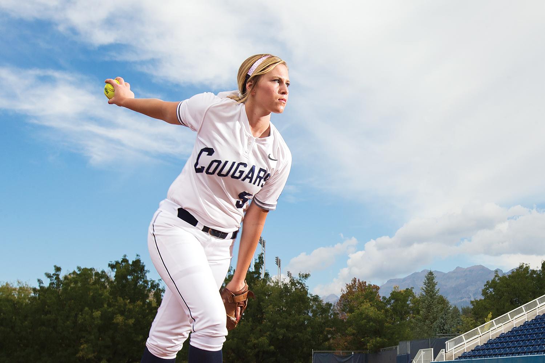 McKenna Bull pitching.