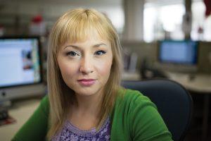 Photo of BYU journalism student Kristina Smith.