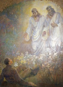 A painting of the First Vision.