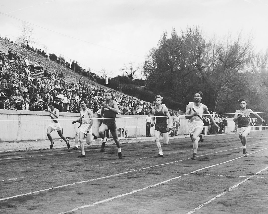 BYU invitational track and field competition in 1940.
