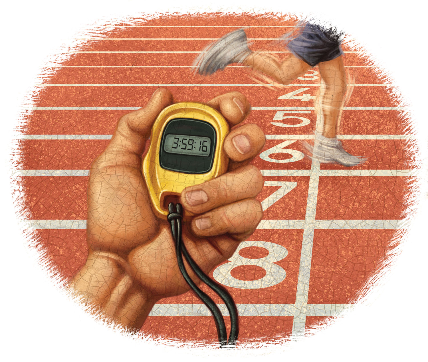 Illustration of a stopwatch