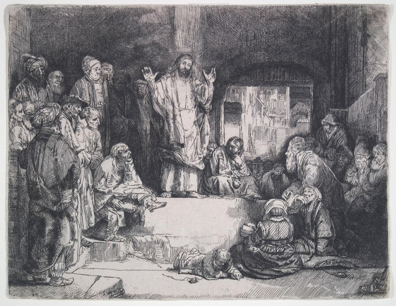 Rembrandt van Rijn, Christ Preaching (La Petite Tombe), 1652