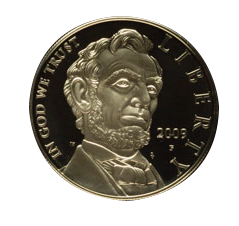 2009 Abraham Lincoln Commemorative Silver Coin