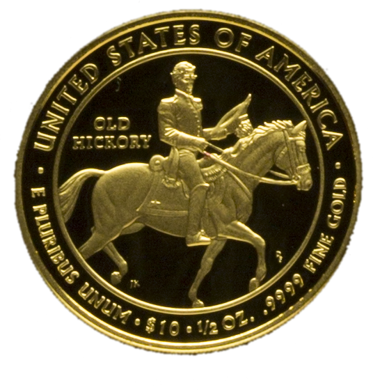 2008 Andrew Jackson's Liberty First Spouse Gold Coin