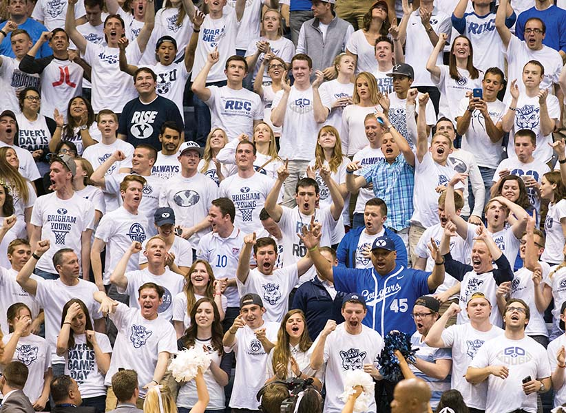 ROC Section BYU Mens Basketball vs. Virginia Tech in the NIT