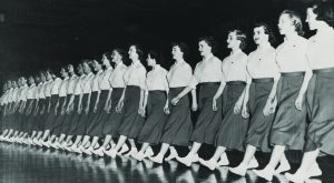 Cougarettes marching in 1953