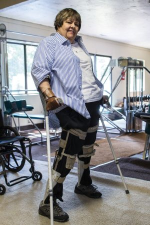 "Becky Reeve, left quadriplegic after a car accident, learned to ""walk by faith""—and to walk again on her own after decades of effort to rehabilitate her body."