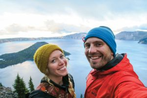 Cees and Madison Hofman at Crater Lake.