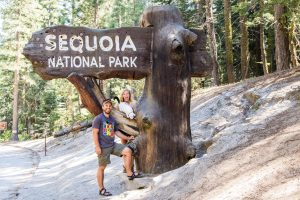 The Hofmans at Sequoia National Park.