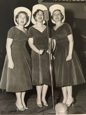 Sharon Senecal, Dorene Sheldon, and Kay Hansen sing in a trio called the Gaynotes. Photo courtesy of Kay Hansen.