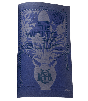 Cover of a 1905 White and Blue