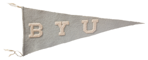 BYU powder-blue pennant, likely created in 1911