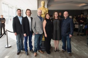Dennis Liddiard and others at the Academy Awards
