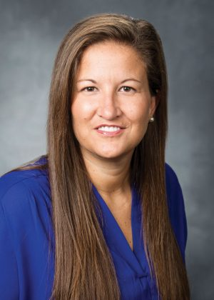 Portrait of Liz Darger, associate athletic director