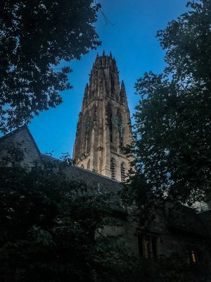 Harkness Tower on the campus of Yale University.