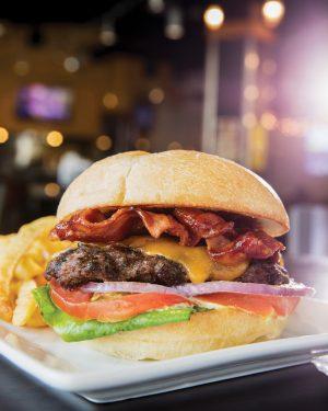 Image of The Wall's signature Wall Burger.