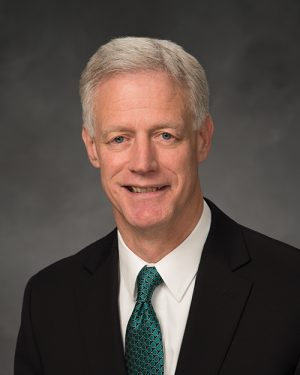 Portrait of BYU President Kevin J Worthen.