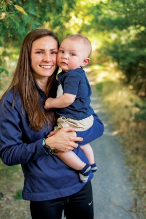 Erica Birk-Jarvis holds her 8-month-old son, Jack.