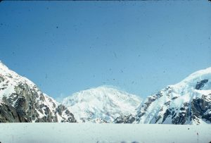 A photo of Denali taken on a film camera.