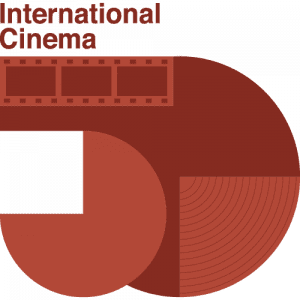 International Cinema 50th Anniversary poster with a red