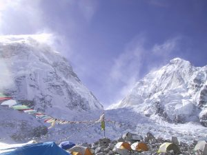 A base camp on Everest.