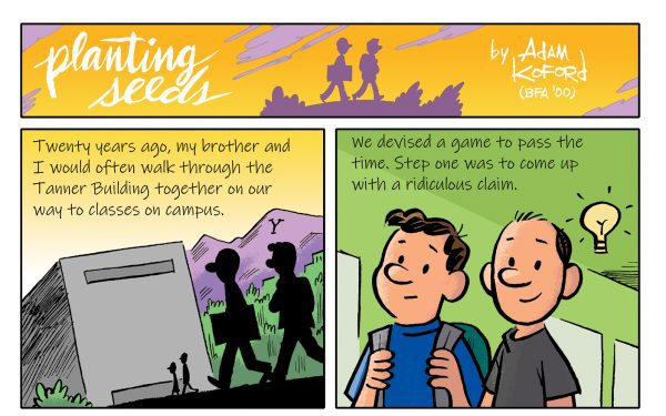 Adam Koford Shares a Memory in Comic Form of BYU Shenanigans