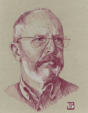 A sketch of Greg Bean by his wife, Jean.