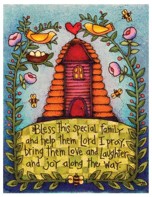 A card Jean Bean made for Relief Society from colored pencil