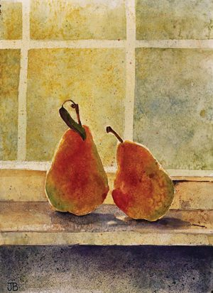 A watercolor from Jean's years between stints at BYU.