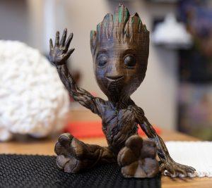 A Groot figurine.