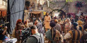 A photo of the set of The Chosen tv series, filmed at the Jerusalem set in Goshen, Utah.